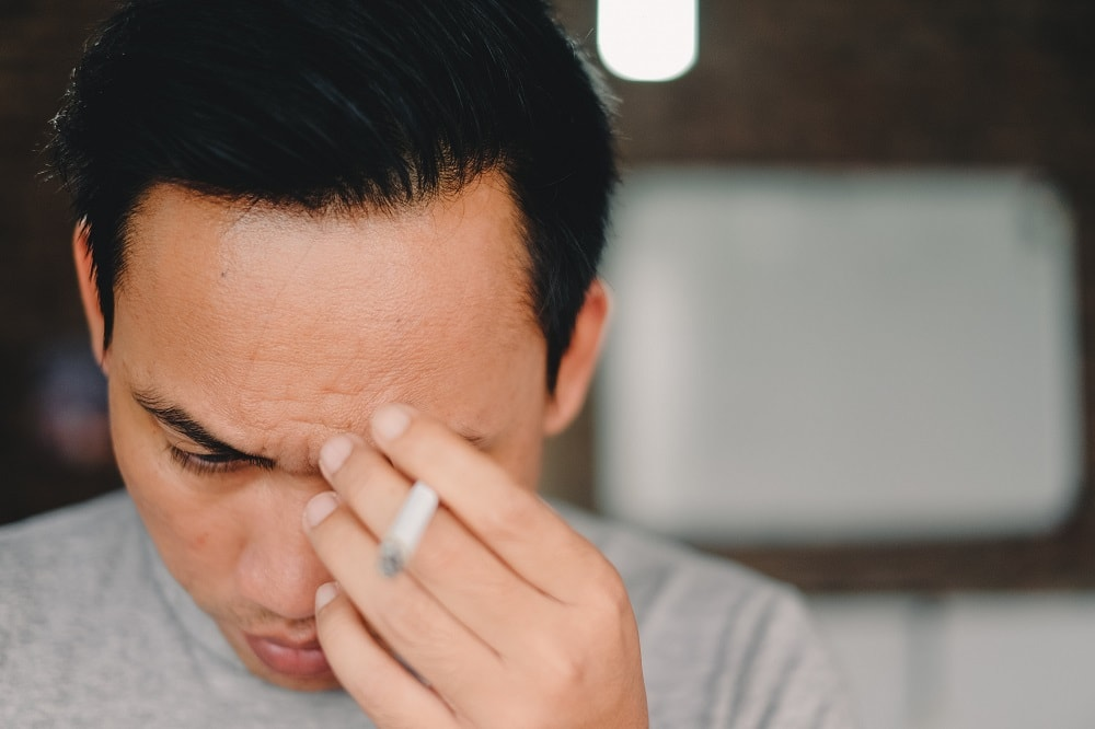 Rauchen führt zu Haarausfall