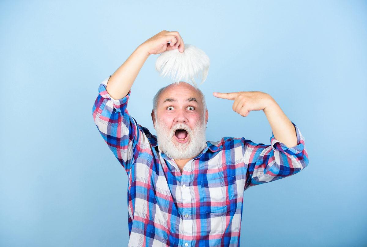 Echthaarperücke zur Haartransplantation