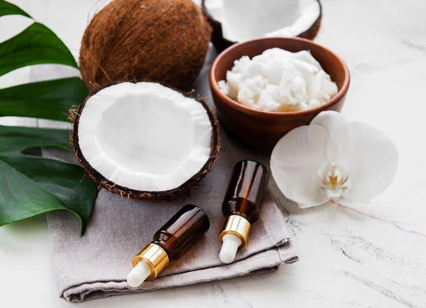 Kokoksöl als Zutat für die Haarkur
