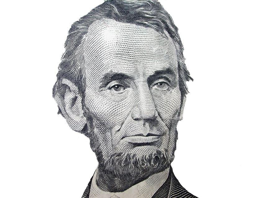Der ehemalige Praesident Abraham Lincoln mit individuellen Bartform