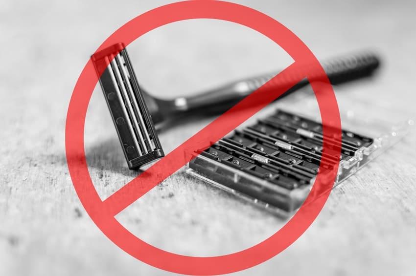 Rasierer, der im No Shave November nicht benutzt wird