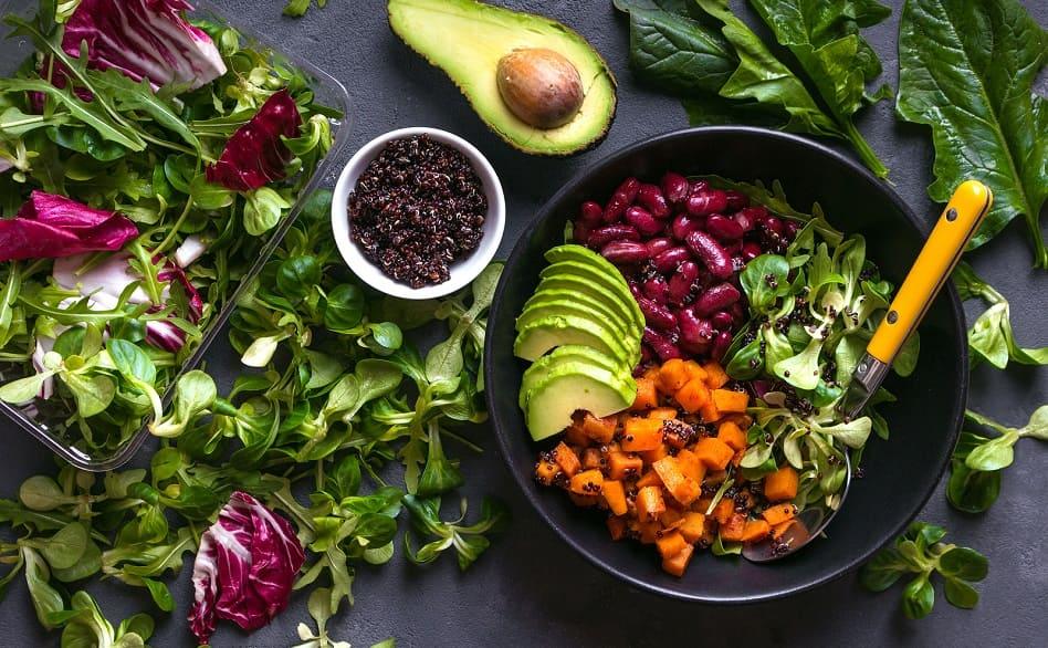 Vegane Mahlzeit für die Haare