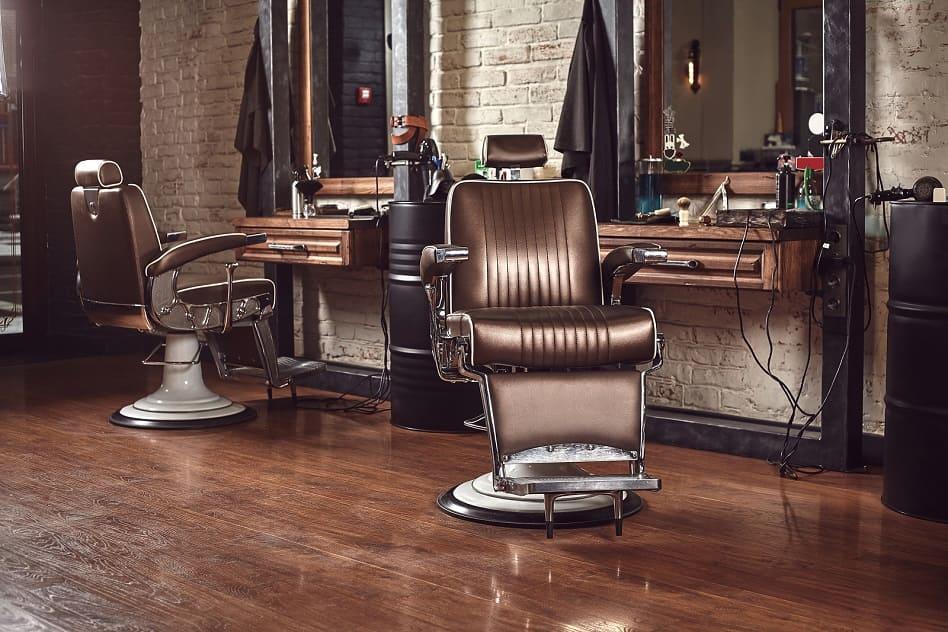 Barbiersitze in einem Friseursalon