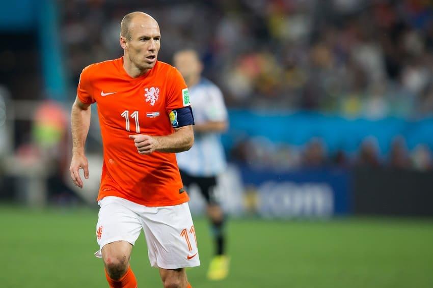 Arjen Robben führt die Niederlande als Kapitän an